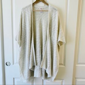 Mossimo oversized open front poncho cardigan S/M